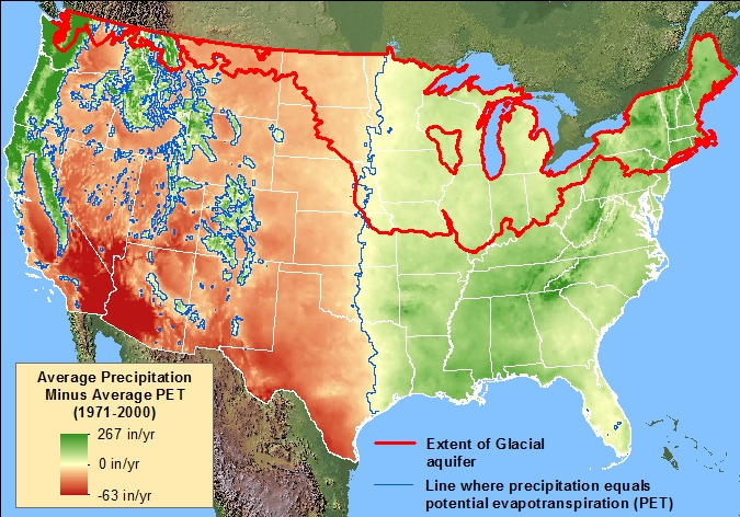 Usa Avg Precipitation Vs Evapotranspiration